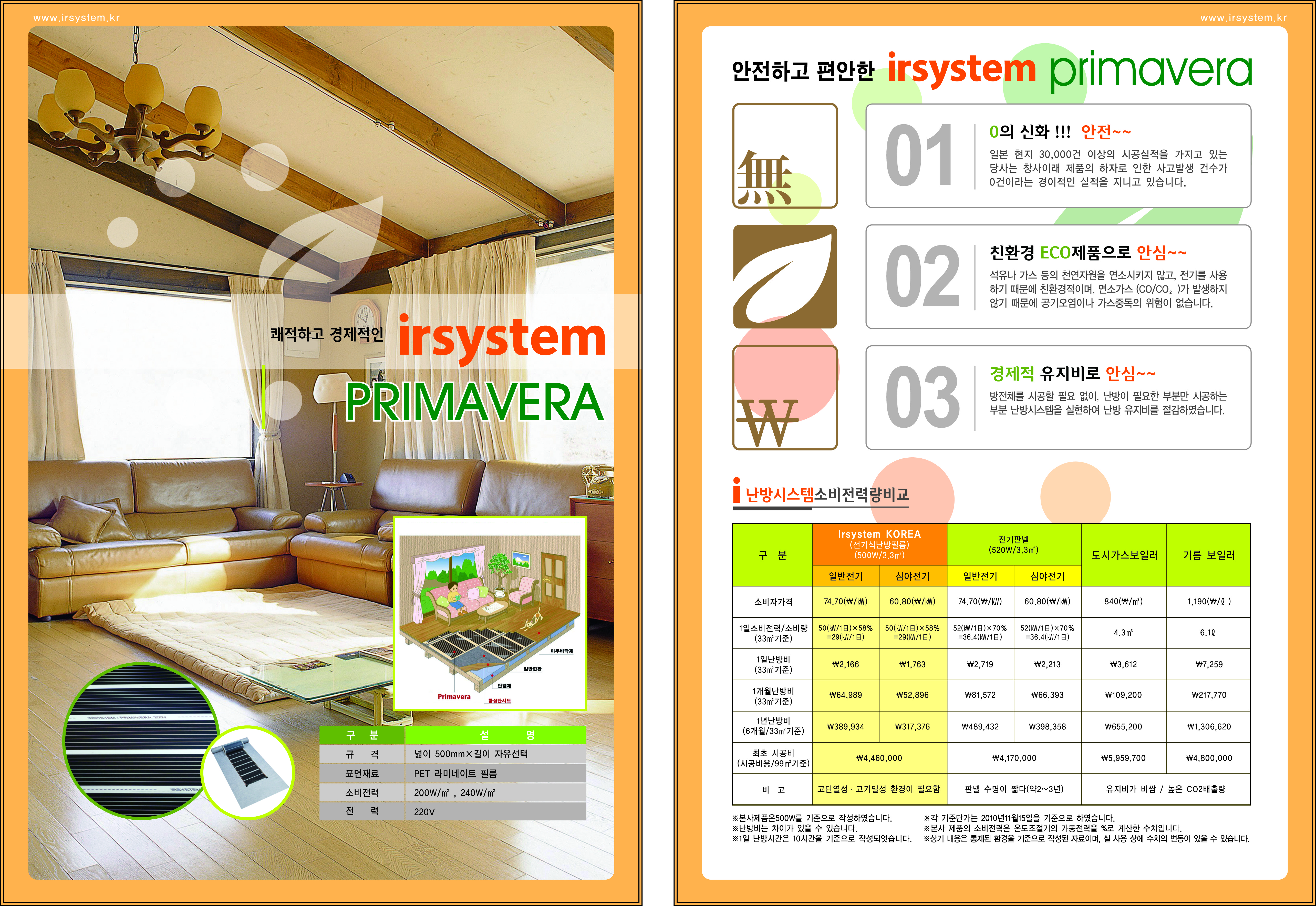 아르시스템-PRIMAVERA, IRSYSTEM, 아르시스템, 필름히터, 원적외선 난방